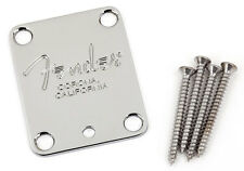 Fender American Deluxe Neck Plate CORONA Chrome Tilt for Strat Tele Guitar Bass