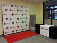 Step and Repeat  Red Carpet Backdrop Banner 12'W x 8'H + Stand + Red Carpet 12x3