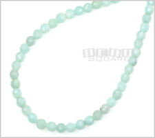 "15.8"" Natural Amazonite Faceted Round Beads 6mm #22136"