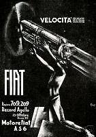 M.Sironi-FIAT-Record Agello-aereo VELOCITA' -Pausania-Sassari-1934 rarissimo!!!