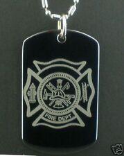 FIRE Department Fireman logo  Dog Tag Pendant Necklace