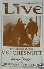 LIVE / VIC CHESNUTT / ANGELFISH 1995 PORTLAND CONCERT TOUR POSTER - Rock Music
