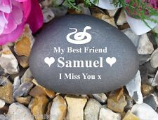 Pet Memorial Pebble (Stone Effect) - Personalised - Weatherproof - Snake
