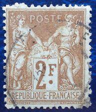 France oblitéré, n°105, 2F Sage type 1, 1900