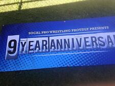 SoCal Pro Wrestling San Diego Event / Ring USED Banner Show 9-Year wwe tna wwf
