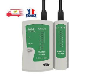 Testeur de câble réseau ethernet Cat6e et téléphonique RJ45 RJ11 RJ12