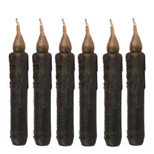 6pcs 17cm LED Flameless Wax Candle Battery Operated Taper Candle Black HOT