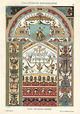 Pittura soffitto Italia ornata ornamenti ORIGINALE CHROMO ornamenti tesoro 057