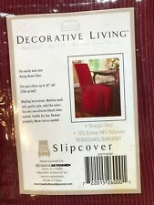 Decorative Living-Burgundy Slipcovers for dining room chairs -8 (7 in packages)
