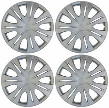 """4 piece SET Hub Caps ABS Silver 16"""" Inch Wheel Cover for OEM Rims Cap Covers"""