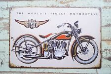 MADE IN USA Motorcycle Metal Tin Signs Retro Plaque Wall Decor Poster