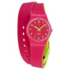 Swatch Originals Biko Roose Pink and Yellow Ladies Watch LP131