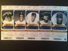 New York Mets 2012 MLB ticket stubs - One ticket - Legends