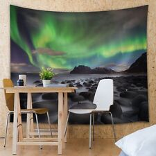 Wall26® - View of the Northern Lights - Fabric Tapestry, Home Decor - 51x60