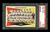 1960 Topps Chicago Cubs Team #513 PSA 9 MINT -- NONE HIGHER!! W/BANKS HOF