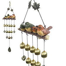 New listing Monsiter Qe Wind Chimes with Birds Decoration Outdoor Garden and Home Decor