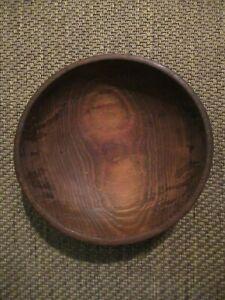 "Antique Munising Rustic 10 3/4"" One Piece Wooden Bowl"