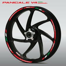 Panigale V4 wheel decals stickers set rim stripes for Ducati Corse Laminated