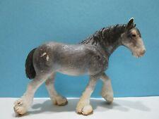 Schleich ® Pferde  13291      Clydesdale Stute   grau /weiß   ohne Fähnchen