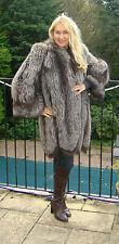 Glamorous Reale Giacca cappotto di pelliccia di volpe taglia 10-12