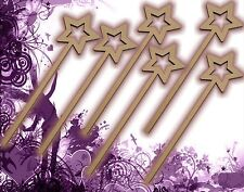 Six (6) Fairy Wands Craft Wood MDF Girls Birthday Party Favor Novelty Toys 128