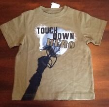 NEW GYMBOREE BOYS SHORT SLEEVE SHIRT SIZE 5 FOOTBALL TOUCHDOWN HERO