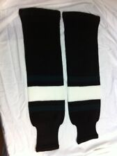 "K1 22"" Dallas Pattern Home Black/Green/White Polyester Hockey Socks (NEW)"