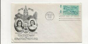 United States  Comm/FDC - Tercentenary of Annapolis, Maryland  - 1949 (032)