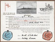 CROSSING THE LINE HMS HOOD 1923 SPECIAL CERTIFICATE ROYAL NAVY SERVICE SQUADRON