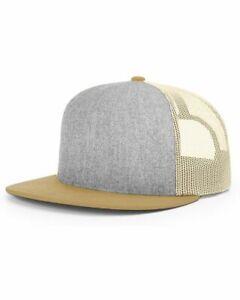 Richardson Wool Blend Flat Bill Trucker Cap 511 Flat Bill Baseball Hat