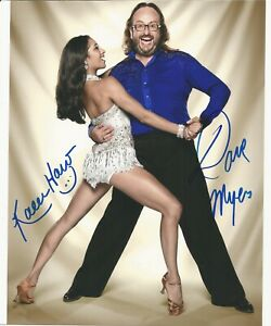 Karen Hauer Dave Myers Strictly come dancing hand signed photo UACC- Dealer