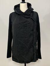 Women's Lululemon Size 4 Black Hooded Cardigan Jacket Thumb Loops
