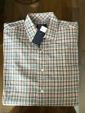 1 NWT OXFORD GOLF MEN'S LONG SLEEVE BUTTON DOWN SHIRT, SIZE: LARGE - PLAID