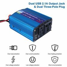 Car Power Inverter Converter DC 12V to AC 110V Dual USB Charger Adapter 300W UK