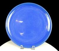 "CALIFORNIA POTTERY RINGED BLUE LARGE 12 5/8"" PLATTER"