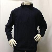 Mens XL XXL Fleece Sweater Sweatshirt Jacket Mock Neck Half Zip Up Winter Warm