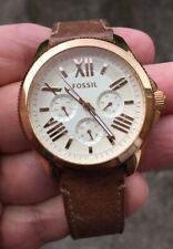 Señoras FOSSIL AM-4532, Reloj con correa de cuero muy buen orden Batería nueva en él