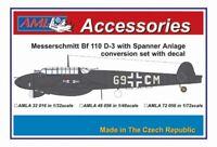 AML 1/32 Messerschmitt Bf-110D-3 Spanner Anlage Conversion Set with Decals # A32