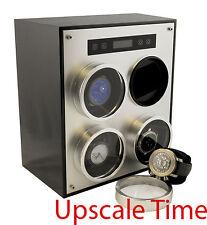 4 Slot Aluminum Programmable Digital Bi-directional  Watch Winder $1299 Retail