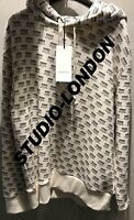 GUCCI Micro Logo All Over Stamp Print OVERSIZED Hoodie Size M RARE