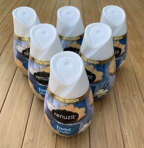 6 Renuzit Solid Gel Air Freshener FROSTED VANILLA Limited Edition