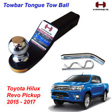 Towbar Tongue Tow Ball Mount Hitch Hamer Black For Toyota Hilux Revo 2015 - 2017