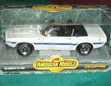 ERTL 1969 FORD MUSTANG SHELBY GT500 CONVERTABLE WHITE 1/18