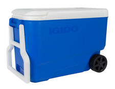 Igloo Wheelie Cool 38 Qt Drinks Cooler Cool Box Wheeled Blue Fishing Camping