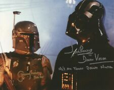 Boba Fett and Darth Vader Star Wars Prowse Bulloch hand signed photo incl Quotes