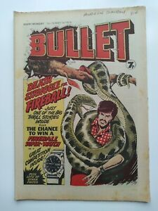 Bullet comic - Issue #12 May 1 1976 rare vintage boys comic