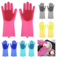 Magic Reusable Silicone Rubber Gloves for Household Dish Car Washing Cleaning