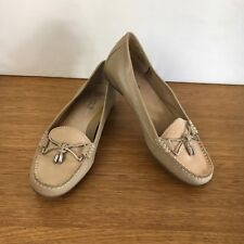 🌾 Supersoft By Diana Ferrari Embellished Leather Loafers Slip On Shoes Size 5.5