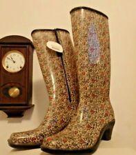 NEW w/ tags DAV Tall Knee high rain rubber boots wellies  10