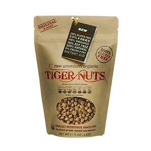 Tiger Nuts Raw Organic Paleo SuperFood Prebiotic Health Snack 5 oz Bag TigerNuts